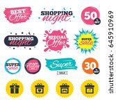 sale shopping banners. special... | Shutterstock .eps vector #645910969