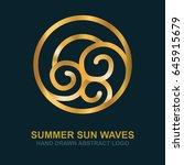 summer  sun  sea and waves. ...   Shutterstock .eps vector #645915679