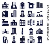 skyscraper icons set. set of 25 ... | Shutterstock .eps vector #645916735