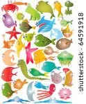 fish sea collection | Shutterstock . vector #64591918