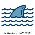 shark icon | Shutterstock .eps vector #645921571
