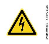 vector high voltage sign.danger ... | Shutterstock .eps vector #645921601