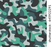 camouflage seamless pattern.... | Shutterstock .eps vector #645922291
