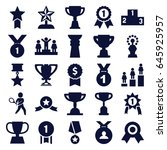 trophy icons set. set of 25... | Shutterstock .eps vector #645925957