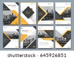 abstract a4 brochure cover... | Shutterstock .eps vector #645926851