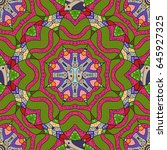 elegant seamless pattern with... | Shutterstock .eps vector #645927325