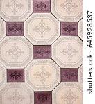 sidewalk tile | Shutterstock . vector #645928537