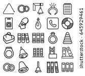 ring icons set. set of 25 ring... | Shutterstock .eps vector #645929461