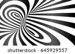 vector twisted stripes optical... | Shutterstock .eps vector #645929557