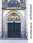 door with theses  of the castle ... | Shutterstock . vector #645930469