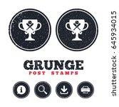 grunge post stamps. baseball... | Shutterstock .eps vector #645934015