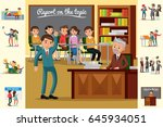 colorful education concept with ... | Shutterstock .eps vector #645934051
