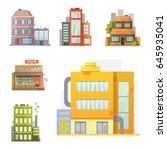 flat design of retro and modern ... | Shutterstock .eps vector #645935041
