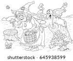fairy tale a cute witch