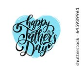 vector happy fathers day... | Shutterstock .eps vector #645939961