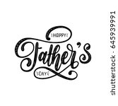 vector happy fathers day... | Shutterstock .eps vector #645939991