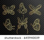 set of butterflies. butterfly... | Shutterstock .eps vector #645940039