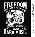 rock music graphic design with... | Shutterstock .eps vector #645946465