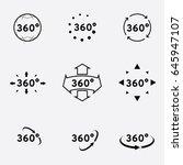 360 degrees view sign  vector... | Shutterstock .eps vector #645947107