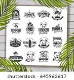 summer typography design...   Shutterstock .eps vector #645962617