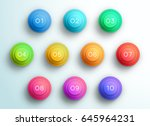 number bullet point 3d pyramid... | Shutterstock .eps vector #645964231