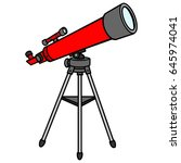 telescope | Shutterstock .eps vector #645974041