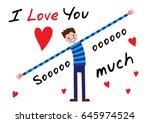 i love you  i love you so much  | Shutterstock .eps vector #645974524