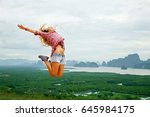 lifestyle image of happy young... | Shutterstock . vector #645984175