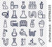 tube icons set. set of 25 tube... | Shutterstock .eps vector #645986335