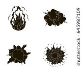 flame  sparks  hydrogen... | Shutterstock .eps vector #645987109