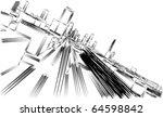 urban sketch | Shutterstock .eps vector #64598842
