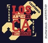 california vintage typography ... | Shutterstock .eps vector #645995749
