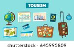 travel collection. vacation...   Shutterstock .eps vector #645995809