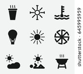 hot icon. set of 9 hot filled... | Shutterstock .eps vector #645995959