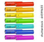 seven pairs of alkaline... | Shutterstock . vector #64599655