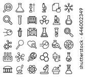 research icons set. set of 36... | Shutterstock .eps vector #646002349