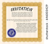 orange vintage invitation... | Shutterstock .eps vector #646003429