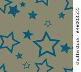seamless pattern with stars....   Shutterstock .eps vector #646003555