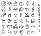 human icons set. set of 36... | Shutterstock .eps vector #646003651