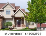close up suburban house | Shutterstock . vector #646003939