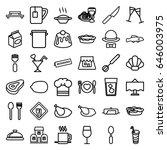 restaurant icons set. set of 36 ...   Shutterstock .eps vector #646003975