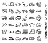 auto icons set. set of 36 auto... | Shutterstock .eps vector #646006279