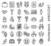 businessman icons set. set of... | Shutterstock .eps vector #646012267
