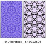 seamless patterns set.... | Shutterstock .eps vector #646013605