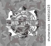 employee training on grey camo... | Shutterstock .eps vector #646016125