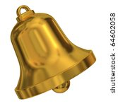 gold bell on a white background | Shutterstock . vector #64602058
