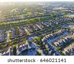aerial view of residential... | Shutterstock . vector #646021141