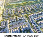 aerial view of residential... | Shutterstock . vector #646021159