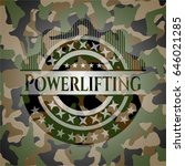 powerlifting on camo pattern | Shutterstock .eps vector #646021285