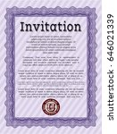 violet retro invitation. money... | Shutterstock .eps vector #646021339